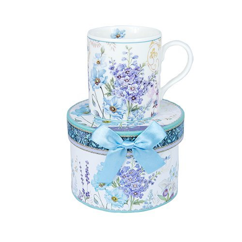 Ashdene Pretty prints - flowers - Fine Bone China Cup Mug Porzellantasse Tasse Becher tazza taza 8,2cm 250ml, Gift box, best quality, ASHDENE, Australia China-box