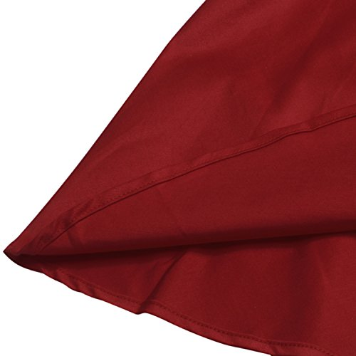 LUOUSE Sommer Damen Ohne Arm Kleid Dress Vintage kleid Junger abendkleid,WineRed,L - 6