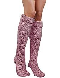 SHOBDW Mujeres Niñas Tejer Grueso Caliente Muslo Alto Sobre La Rodilla Calcetines Calcetines de Algodón Térmico