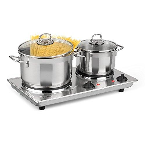 Klarstein Cookomaniac • Cocina eléctrica • Dos fogones • 2500 W •...