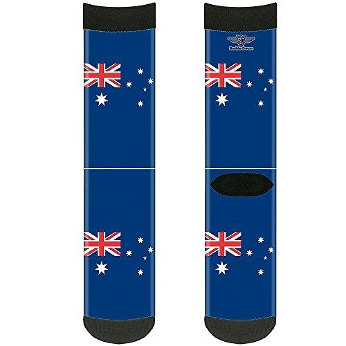 Buckle Down Unisex-Erwachsene Socken Australia Flag Crew, mehrfarbig -