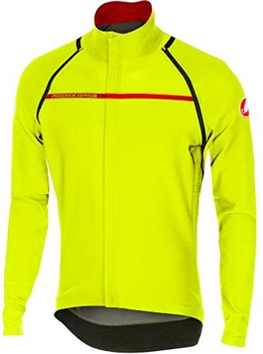 Mens Convertible Jacket (Castelli Perfetto Convertible Jacket - Men's Yellow Fluo, XL)