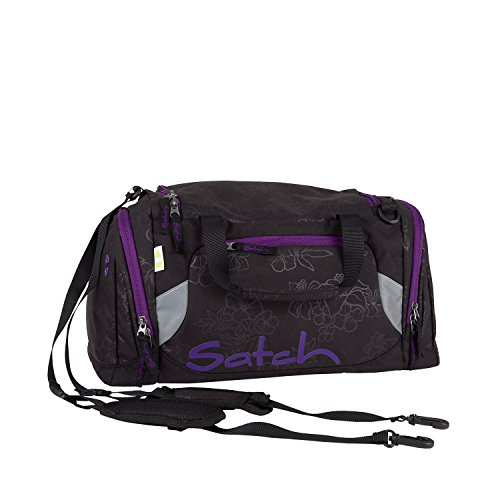 Satch Sporttasche II Purple Hibiscus 9C6 schwarz lila