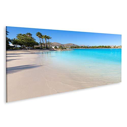 bilderfelix® Bild auf Leinwand Strand Platja de Alcudia auf Mallorca Mallorca Mallorca auf den Balearen in Spanien Wandbild, Poster, Leinwandbild SID