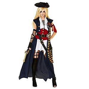 Karnival Mariner Pirate Lady Costume Disfraz Multicolor, X-Small 81303