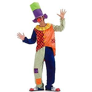 Juguetes Carnaval de disfraces vestido de payaso para hombre 80383 de lujo con el sombrero