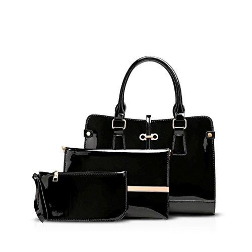 NICOLEDORIS-Fashion-Women-Handbag-Shoulder-Bag-Crossbody-Bag-3PCS-Large-Waterproof-PU-Leather