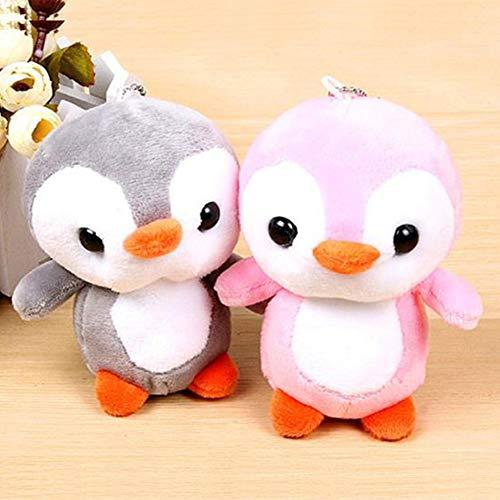 FafSgwq Niedlicher Cartoon-Pinguin-Tierplüsch-angefüllter Puppen-hängender Beutel Keychain Anhänger Blau -