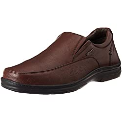 Hush Puppies Men's Taylor Slip On Brown Leather Formal Shoes - 8 UK/India (42 EU)(8544866)