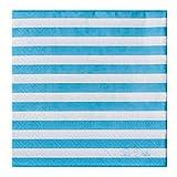 Givi Itali 33x 33x 33cm 3lagig Servietten aus Papier gestreift (20Stück)–Blau