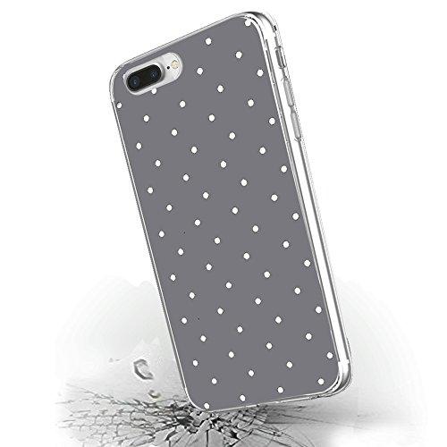 """Inonler Diseño de lunares clásico de puntos lindos patrón funda para iPhone 6S(4,7""""), para iPhone 6, Funda Plata"""