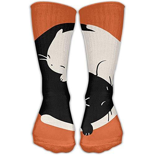 deyhfef Sleep Yin Yang Cat Casual Running Long Socks Novelty High Athletic Sock Unisex - Boys-club-fitness-studio