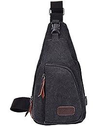 Fletion Cool Men s Outdoor Sports Casual Canvas Backpack Travel Vintage  Handbag Unbalance Backpacks Messenger Shoulder Bag b670529197784
