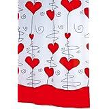 Ridder Valentine 473460-350 - Cortina de ducha de tela (200 x 180 cm), color rojo