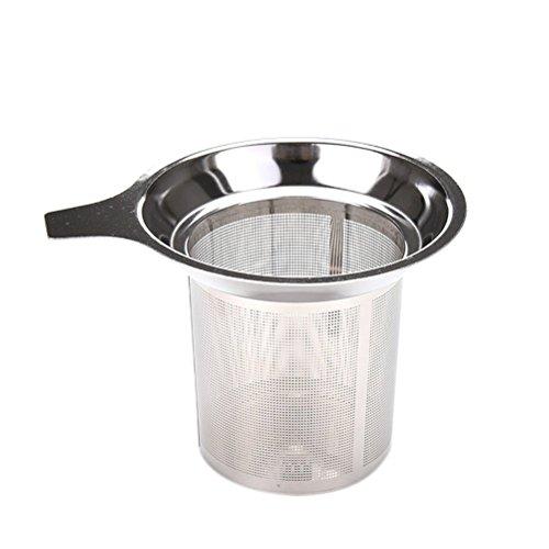 Wetrys 1 Pcs Stainless Steel Tea Infuser Steeper Strainer for Loose Leaf Grain Tea Cups Mugs Test