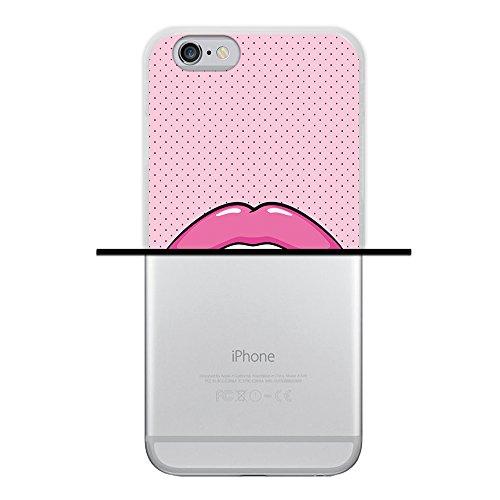 WoowCase Hülle Case für { iPhone 6 6S } Handy Cover Schutzhülle Graffiti Funny Farben Housse Gel iPhone 6 6S Transparent D0459