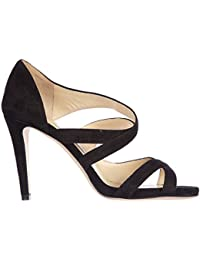 Jimmy Choo sandalias de tacón mujer en ante nuevo valance negro