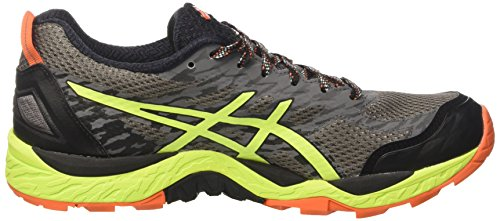 Asics Fujitrabuco 5 G Tx, Chaussures de Running Homme Gris (Shark/Safety Yellow/Black)