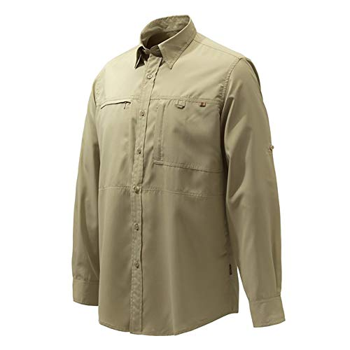 Beretta Serengeti Sport Hunting Shirt Green Game Trap Field Country Wear LU063 -