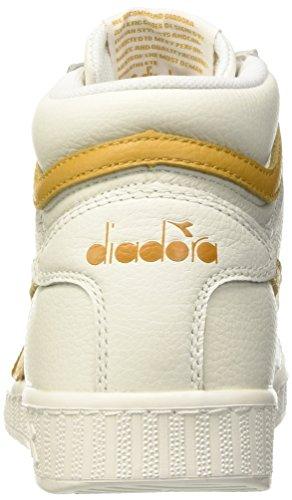Diadora Unisex-Erwachsene Game L High Waxed Pumps Bianco (Bianco/Beige Farro)