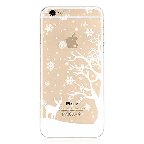Weihnachten Hülle für iPhone 6 / 6S 4.7 inch MOONMINI Ultra Dünn Weihnachten Dekoration Weiche TPU Silikon Full Body Schutz Rückseite Transparent Schutzhülle Shell für iPhone 6 / 6S 4.7 inch Style 4 Style 4