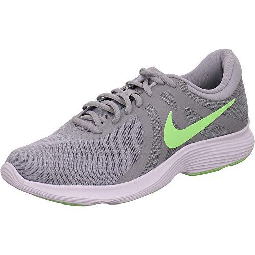 Nike Herren Revolution 4 EU Laufschuhe, Mehrfarbig (Wolf Grey/Lime Blast/Cool Grey/White 016), 42.5 EU