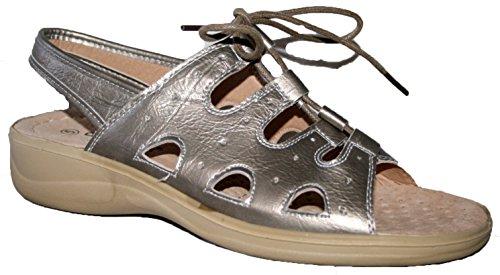 Cuscino A Piedi, Damen Sneaker Low-tops Zinnfarben
