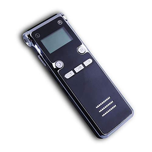 HCDMRE 8GB Digital Voice Recorder, Voice Activated Recorder mit Playback, Mini Audio Recorder USB Charge, MP3-Upgraded Small Tape Recorder für Vorträge, Meetings, Interviews (Stimme, Recorder Tape)