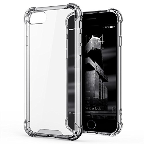 Egotude India Shock Proof Hard Back Hybrid Cover Case for Apple iPhone 7 & iPhone 8 - Transparent