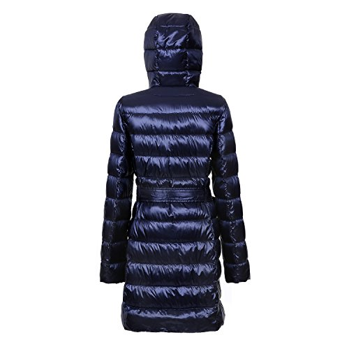 BLDO Damen Daunenjacke mit Kapuze Daunenjacke Damen Packbare Jacken Leichte Winter Warm Sektionen Daunenjacke Dunkelblau
