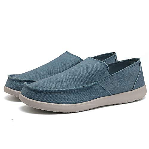 men's boat shoes slip on canvas casual loafers plimsolls lightweight espadrilles deck shoes
