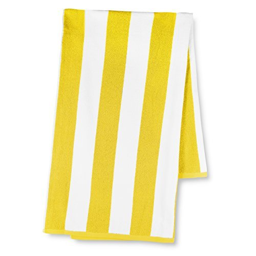 luxor-linens-30x70-inch-beach-towel-with-classic-cabbana-stripe-yellow-by-luxor-linens