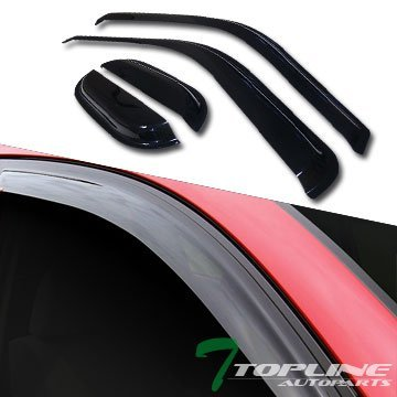 Topline Autopart Sun/Rain Guard Smoke Vent Shade Window Visor 99+ Ford F250 F350 Sd Super/Ext Cab by Topline_autopart