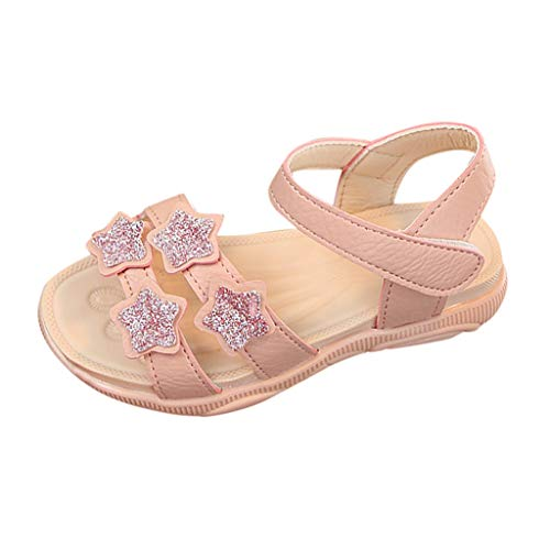 SANFASHION Baby Mädchen Sandalen Kinder Stern Pailletten Bling Strand Schuhe Prinzessin Kostüm Party Geburtstag Hausschuhe Outdoor ()