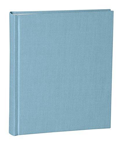 Semikolon Album Medium ciel sky blue   Foto-Album mit 80 Seiten und hochwertigem Buchleinen-Bezug   Foto-Buch mit 40 Blättern cremeweißem Fotokarton mit Pergaminpapier   Format: 21,6 x 25,5 cm