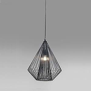 suspension pipistrello plafonnier 32 x 43 cm oval en fil de fer noir cuisine maison. Black Bedroom Furniture Sets. Home Design Ideas