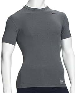 Nike Men's Compression T-Shirt Core SS black Nero - carbon melange / nero Size:XXL