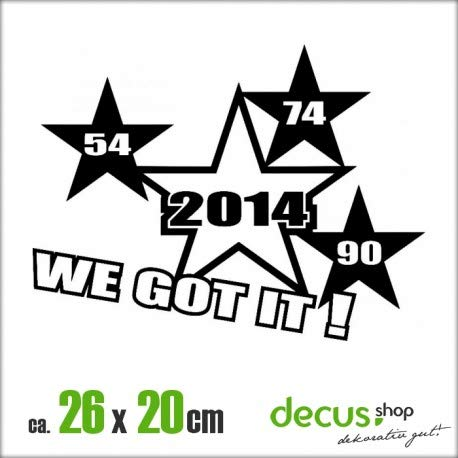 Decus 54 74 90 2014 WE GOT IT XL 1176 // Sticker OEM JDM Style Aufkleber (rosa)