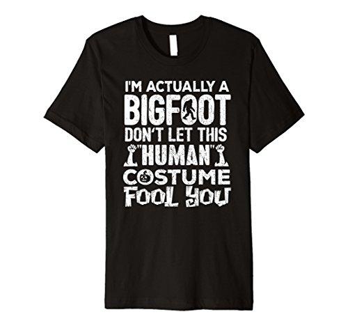Bigfoot Halloween Shirt Echthaar Kostüm Sasquatch Yeti -