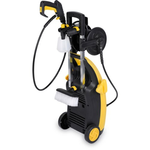 The New 1900 Watt High Pressure 135 BAR Powerplus Power Washer POWXG9030 – Includes Quick Release Accessories: Vario, Turbo, Right Angled Lances plus Car Brush & Patio Cleaner – 3 Year Home User Warranty