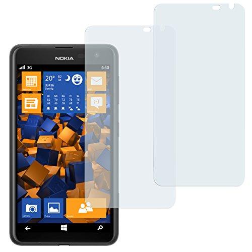 mumbi Schutzfolie kompatibel mit Nokia Lumia 625 Folie klar, Bildschirmschutzfolie (2x)