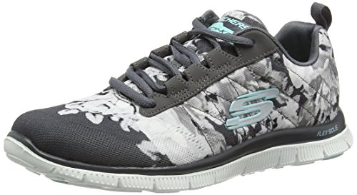 Skechers Flex Appeal Wildflowers, Sneakers Basses femme Gris - Grau (CCW)