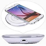 Transparentes Rundes Kabelloses Ladegerät,Sisit Qi-Ladegerät für Kabelloses Ladegerät für Samsung Galaxy S6 Edge Plus/HINWEIS 5 (Weiß)