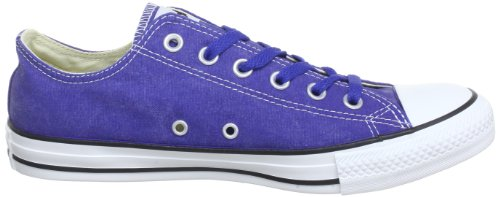 Converse Chuck Taylor All Star Bas Wash Ox, Baskets mode mixte adulte Bleu (Bleu Fonce)