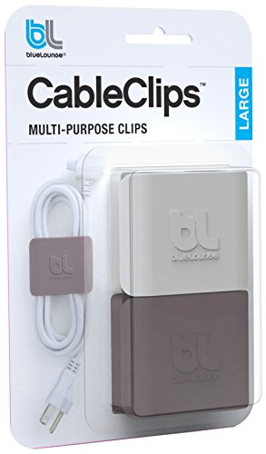 BlueLounge CC-LG - Organizador de cable (2 unidad), color blanco y gris