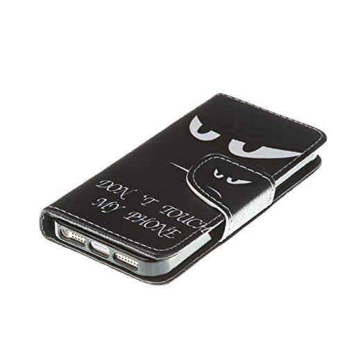 MOONCASE Étui pour Apple iPhone 5 / 5S Printing Series Coque en Cuir Portefeuille Housse de Protection à rabat Case Cover LD20 LD06 #0226