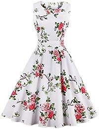 Valin M1396 Damen Rockabilly 50er Vintage Retro Kleid Partykleider Cocktailkleider