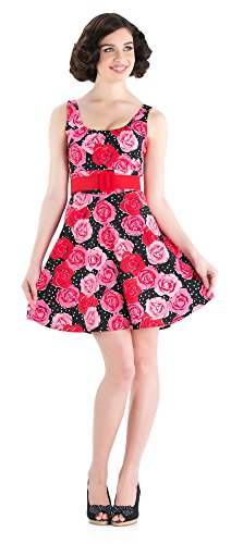 Voodoo Vixen Kleid PINK ROSES DRESS DRA2381 Pink XL