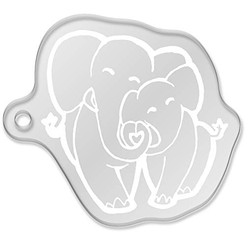 Azeeda 'Amor Elefantes' Llavero Grande (AK00054518)
