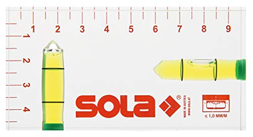 SOLA Klein-Wasserwaage R 102 Kleinwasserwaage Wasserwaage 9,5 cm (95 mm)